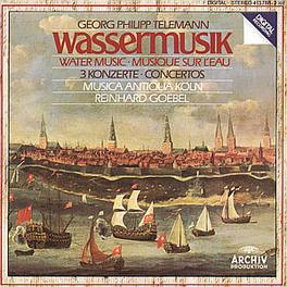 WATERMUSIC/3 CONCERTOS MUSICA ANTIQUA KOLN/GOEBEL Audio CD, G.P. TELEMANN, CD