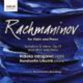 WORKS FOR VIOLIN & PIANO W/UDAGAWA/LIFSCHITZ Audio CD, S. RACHMANINOV, CD
