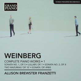 COMPLETE PIANO WORKS 1 ALLISON BREWSTER FRANZETTE WEINBERG, CD