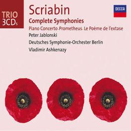 COMPLETE SYMPHONIES RUNDFUNKCHOR BERLIN/DEUTSCHES S.O. BERLIN/MULLER-LORENZ Audio CD, A. SCRIABIN, CD