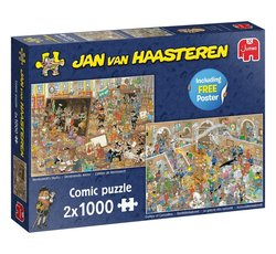 Jan van Haasteren - Een dagje naar het museum (2x1000 stukjes) excl. gift
