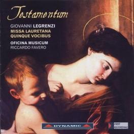 TESTAMENTUM/MISSA LAURENT OFICINA MUSICUM/RICCARDO FAVERO G. LEGRENZI, CD