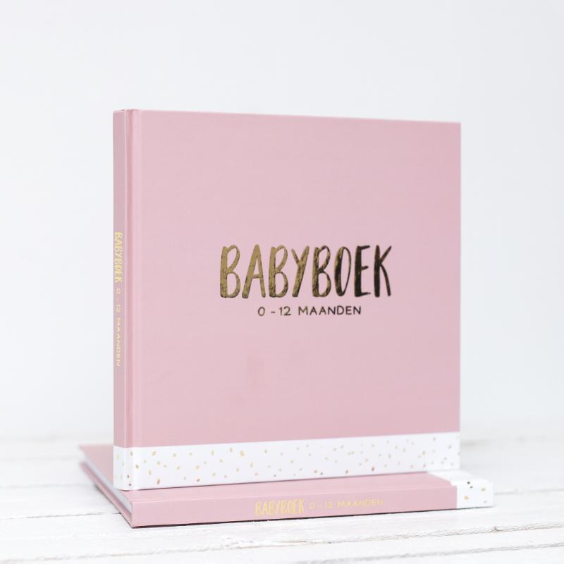 Babyboek 0-12 maanden. roze, Langeveld, Carola, Hardcover