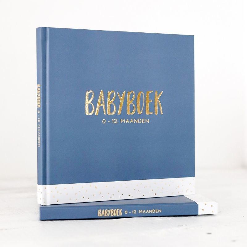 Babyboek 0-12 maanden. blauw, Carola Langeveld, Hardcover