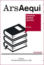 Burgerlijk wetboek 2021-2022