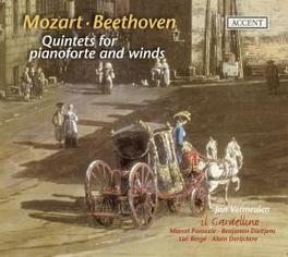 QUINTETS FOR PIANOFORTE.. .. & WINDS//VERMEULEN/IL GARDELLINO Audio CD, MOZART/BEETHOVEN, CD