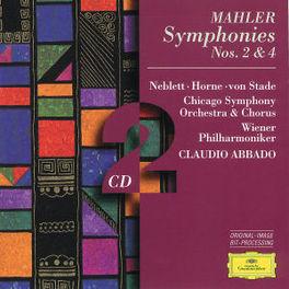 SYMPHONIES NO.2 & 4 CSO/ABBADO Audio CD, G. MAHLER, CD