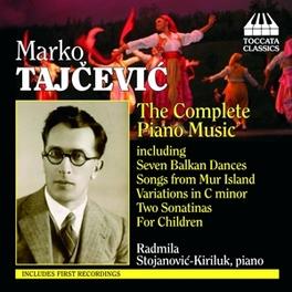 COMPLETE PIANO MUSIC RADMILA STOJANOVIC-KIRILUK Audio CD, M. TAJCEVIC, CD