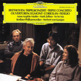 TRIPLE CONCERTO OP.56 MUTTER/ZELTSER/YO YO MA/BP/KARAJAN Audio CD, L. VAN BEETHOVEN, CD