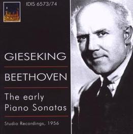 EARLY PIANO SONATES WALTER GIESEKING // 1956 Audio CD, L. VAN BEETHOVEN, CD