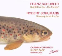 PIANO QUINTETS CARMINA QUARTETT Audio CD, SCHUBERT/SCHUMANN, CD