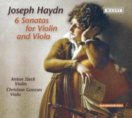 6 SONATAS FOR VIOLIN & VI GOOSSES/STECK Audio CD, J. HAYDN, CD