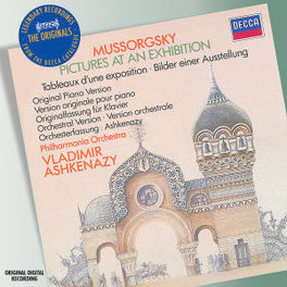 PICTURES AT AN EXHIBITION PHILHARMONIA ORCHESTRA/VLADIMIR ASHKENAZY Audio CD, M. MUSSORGSKY, CD