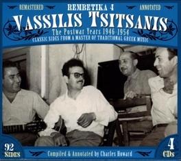 REMBETIKA 4 POSTWAR YEARS 1946-54/COMPILED BY CHARLES HOWARD Audio CD, VASILIS TSITSANIS, CD
