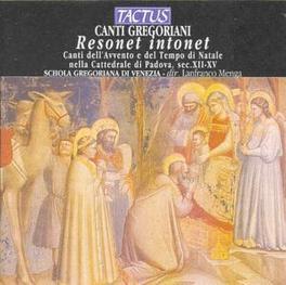 RESONET INTONET SCHOLA GREGORIANA DI VENEZIA Audio CD, GREGORIAN CHANT, CD