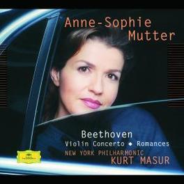 VIOLIN CONCERTO/ROMANCES NY PHIL.ORCH./KURT MASUR/ANNE-SOPHIE MUTTER Violinkonzert D-Dur op. 61, Romanzen für Violine u. Orchester Nr. 1 f-moll op. 40 und Nr. 2 g-moll op. 50. Konzertmitschnitt, L. VAN BEETHOVEN, CD