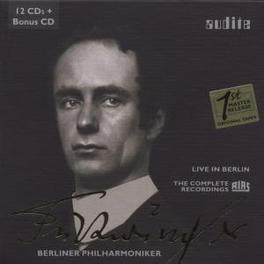 LIVE IN BERLIN -BOX SET- BERLINER PHILHARMONIKER/WILHELM FURTWANGLER Audio CD, WILHELM FURTWANGLER, CD