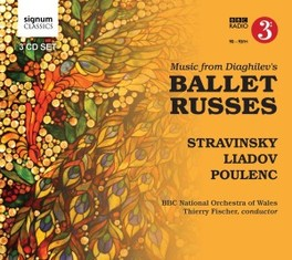MUSIC FROM DIAGHILEV'S BA BBC NAT.ORCHESTRA OF WALES/T.FISCHER STRAVINSKY/LIADOV/POULENC, CD