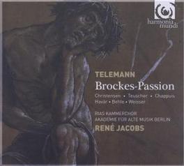 BROCKES PASSION 1711 CHRISTENSEN/TEUSCHER/CHAPPUIS/HAVAR/BEHLE/WEISSER Audio CD, G.P. TELEMANN, CD