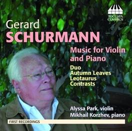 MUSIQUE POUR VIOLON ET.. .. PIANO G. SCHURMANN, CD
