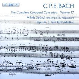 COMPLETE KEYBOARD CONCERT SPANYI/OPUS X ENSEMBLE/MATTSON/SPANYI Audio CD, C.P.E. BACH, CD