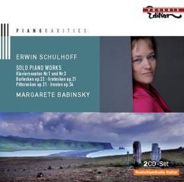 PIANO RARITIES MARGARETE BABINSKY Audio CD, E. SCHULHOFF, CD