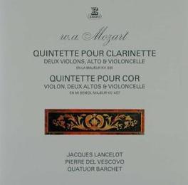 HORN & CLARINET QUINTETS JACQUES LANCELOT Audio CD, W.A. MOZART, CD
