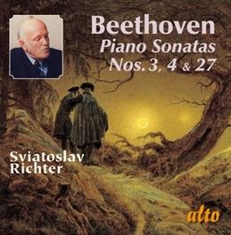 BEETHOVEN: PIANO.. .. SONATAS 3/4/27 SVIATOSLAV RICHTER, CD