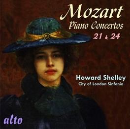 PIANO CONCERTOS 21 & 24 CITY OF LONDON SINFONIA/HOWARD SHELLEY W.A. MOZART, CD