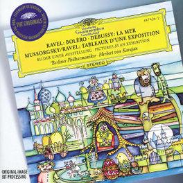 LA MER/BOLERO/PICTURES... -BERLINER PHILHARMONIC/HERBERT VON KARAJAN Audio CD, DEBUSSY/MOUSSORGSKY, CD
