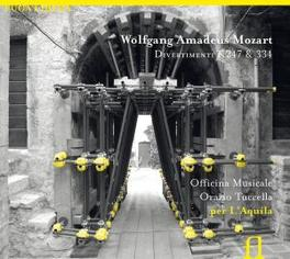 DIVERTIMENTI K247 & 334 OFFICINA MUSICALE PER L'AQUILA Audio CD, W.A. MOZART, CD