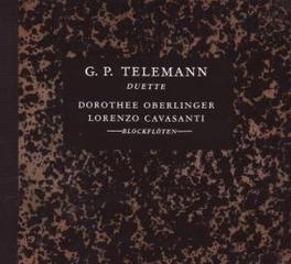 DUETS FOR RECORDER OBERLINGER/CAVASANTI Audio CD, G.P. TELEMANN, CD