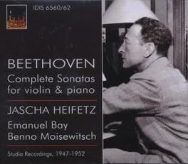 COMPLETE SONATAS FOR VIOL JASCHA HEIFETZ, EMANUEL BAY, BENNO MOISEWITSCH Audio CD, L. VAN BEETHOVEN, CD