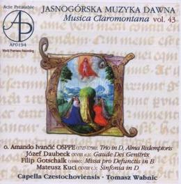 MUSICA CLAROMONTANA 43 Audio CD, CAPELLA CZESTOCHOVIENSIS, CD