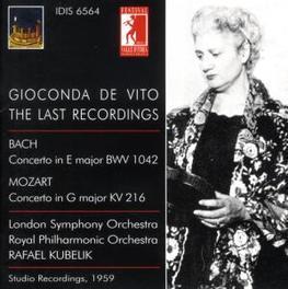 LAST RECORDINGS 1959 LSO, RPO/RAFAEL KUBELIK Audio CD, G. DE VITO, CD