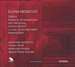 DIPTICO, BREVARIO DE ESPE ENSEMBLE RECHERCHE, APERTO PIANO QUARTET Audio CD, E. MENDOZA, CD