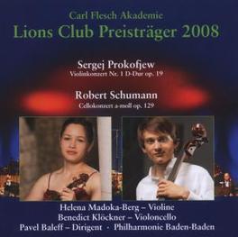 LIONS CLUB PREISTRAGER 20 MADOKA-BERG, HELENA/KLOCKNER, BENED Audio CD, S. PROKOFIEV, CD