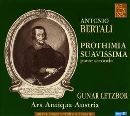 PROTHIMIA SUAVISSIMA ARS ANTIQUA AUSTRIA/GUNAR LETZBOR Audio CD, A. BERTALI, CD