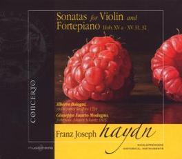 SONATAS FOR VIOLIN & FORT HOB. XVA-XV 31,32 // ALBERTO BOLOGNI Audio CD, J. HAYDN, CD