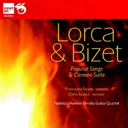 POPULAR SONGS/CARMEN SUIT FEDERICO MORENO TORROBA GUITAR QUARTET LORCA/BIZET, CD