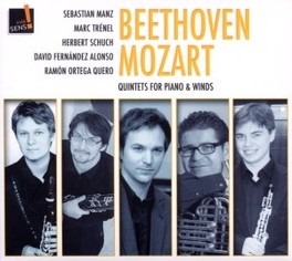 QUARTETS FOR PIANO & WIND MANZ/TRENEL/SCHUCH/ALONSO/QUERO BEETHOVEN/MOZART, CD