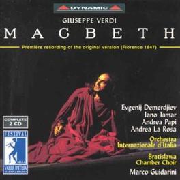 MACBETH ORCHESTRA LNTERNAZIONALE D' LTALIA Audio CD, VERDI, CD