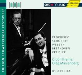 DUO RECITAL-EDITION.. GIDON KREMER/OLEG MAISENBERG Audio CD, GIDON/OLEG MAISEN KREMER, CD