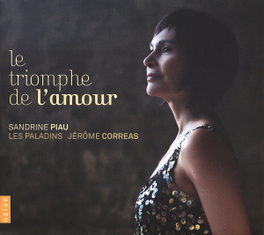 LE TRIOMPH DE L'AMOUR LES PALADINS/JEROME CORREAS//REBEL/RAMEAU/LULLY... SANDRINE PIAU, CD