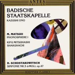 PHONOSPHERE 1 BADISCHE SK KARLSRUHE/ONO Audio CD, MATSUO & SCHOSTAKOWITSCH, CD