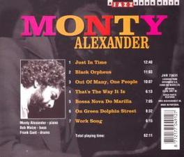 WAY IT IS Audio CD, MONTY ALEXANDER, CD