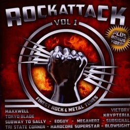 ROCK ATTACK VOL.1 36 TRACKS: EDGUY, KRYPTERIA OR HARDCORE SUPERSTAR A.O. V/A, CD