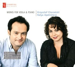 WORKS FOR VIOLA & PIANO CHORZELSKI/APEKISHEVA SCHUMANN/BRITTEN/SHOSTAKO, CD