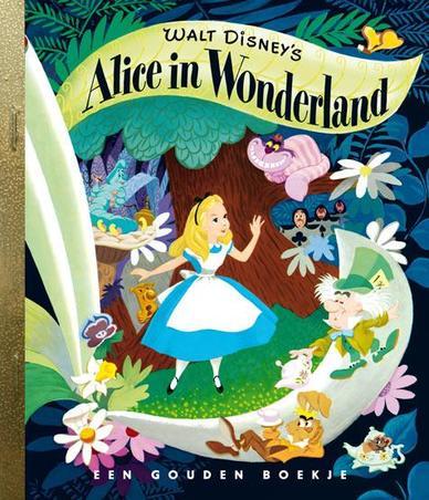 Alice in Wonderland GOUDEN BOEKJES SERIE // LEWIS CARROLL / MET GOUDEN RAND
