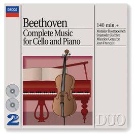 MUSIC FOR CELLO & PIANO ROSTROPOVICH/GENDRON Audio CD, L. VAN BEETHOVEN, CD